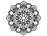 Desenho de Mandala reunião para colorear