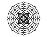 Desenho de Mandala sistema solar para colorear