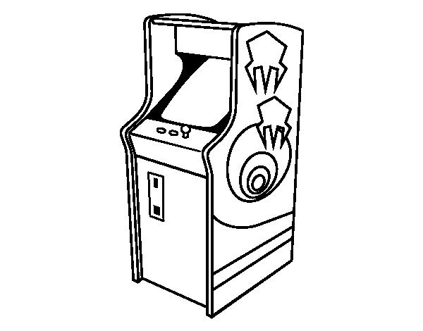 Desenho de m quina arcade para colorir - Maquinas de pintar ...