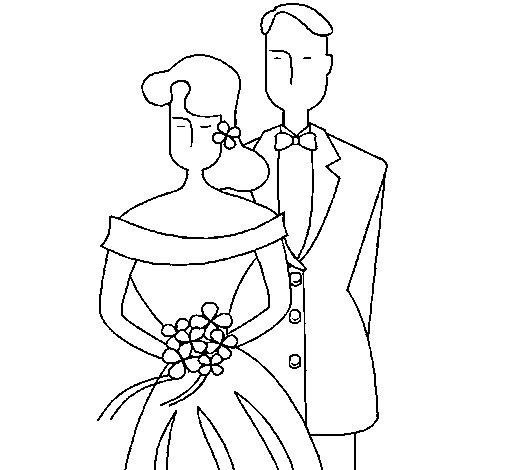 Desenho de Marido e esposa II para Colorir
