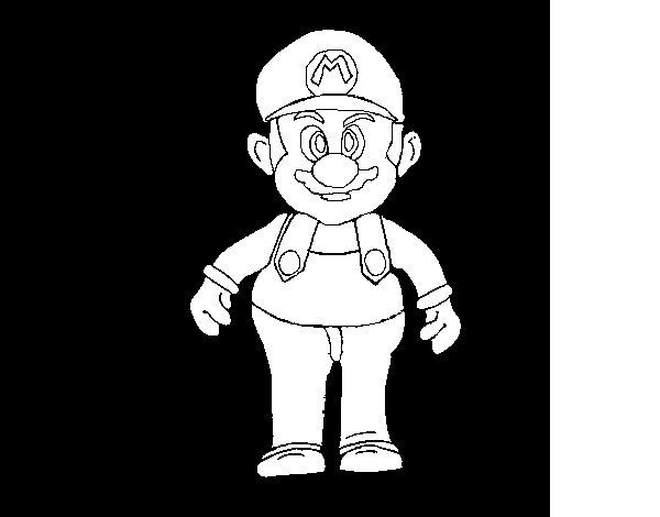 Desenho de Mario para Colorir