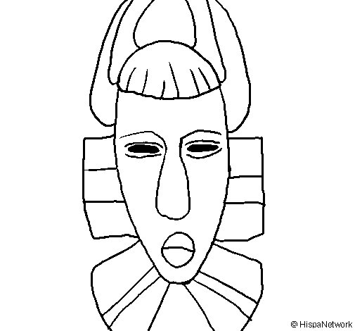 Desenho de Máscara africana para Colorir