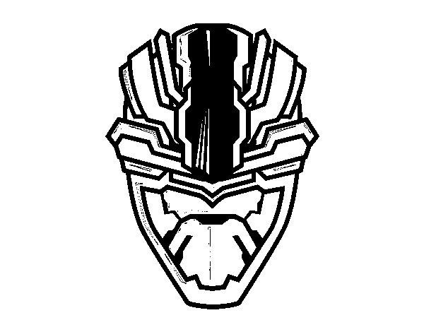 Desenho de Máscara alienigena para Colorir