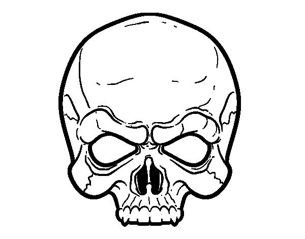 Desenho De Máscara Caveira Para Colorir