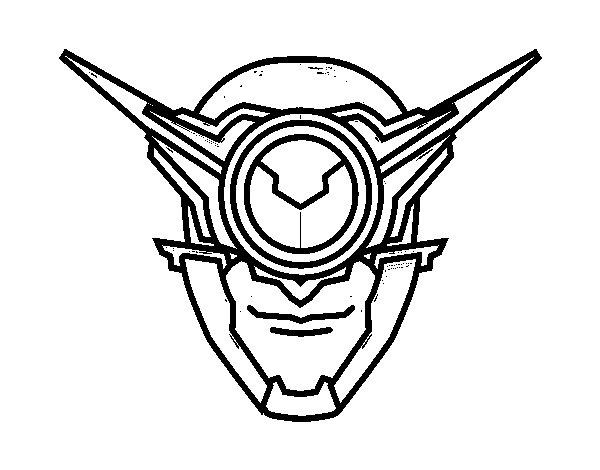Desenho de Máscara ciclope para Colorir