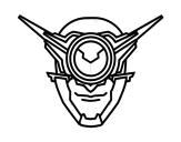 Desenho de Máscara ciclope para colorear