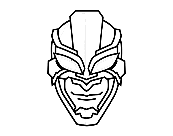 Desenho De Máscara De Super Herói Para Colorir
