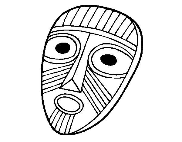 Desenho de Máscara de surpresa para Colorir