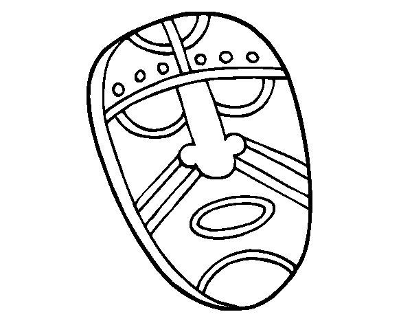 Desenho de Máscara fascinada para Colorir