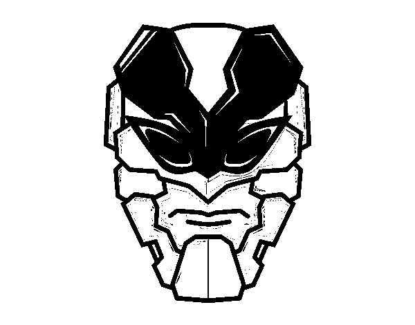 Desenho de Máscara homem abelha para Colorir