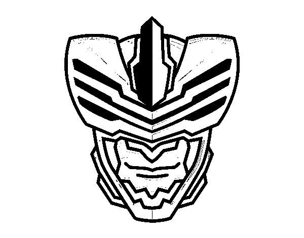 Desenho de Máscara homem mosca para Colorir