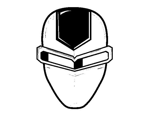 Desenho de Máscara ironman para Colorir
