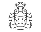 Desenho de Máscara mexicana dos rituais  para colorear