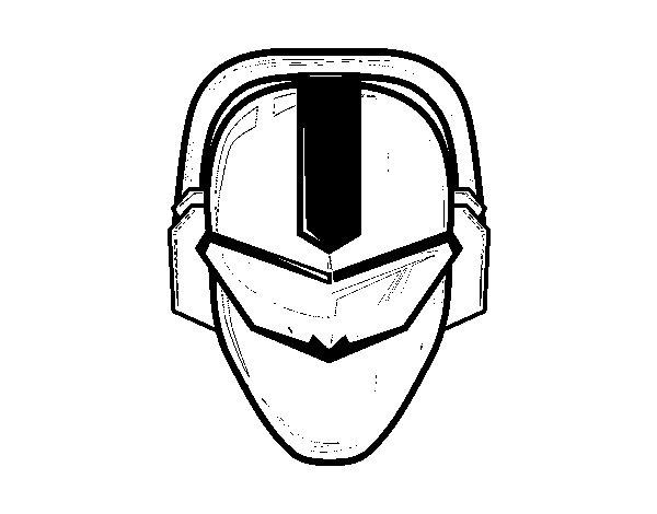 Desenho de Máscara power ranger para Colorir