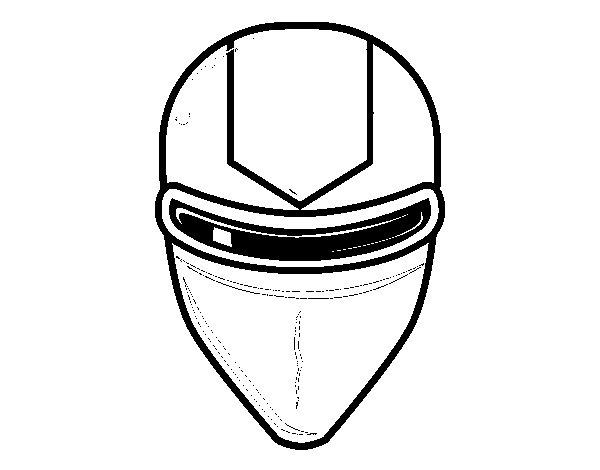 Desenho de Máscara raio laser para Colorir