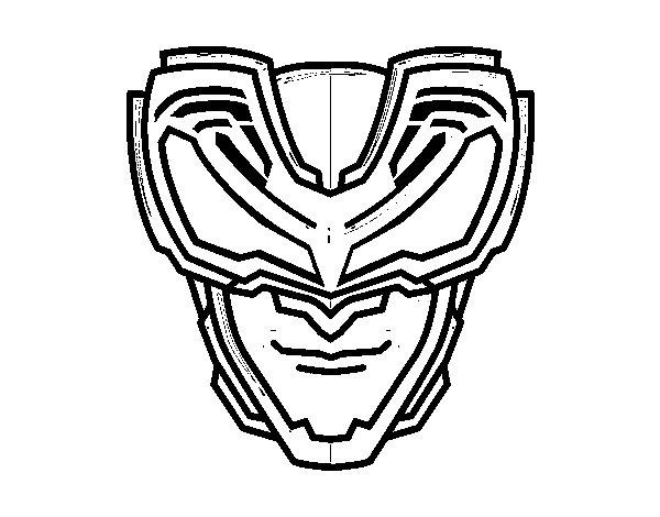 Desenho de Máscara raios X para Colorir