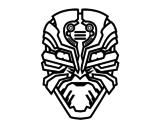 Desenho de Máscara robô alien para colorear