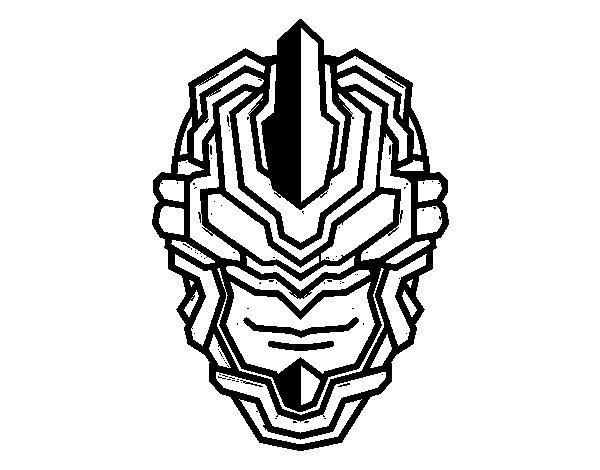 Desenho de Máscara robô para Colorir