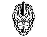 Dibujo de Máscara robô