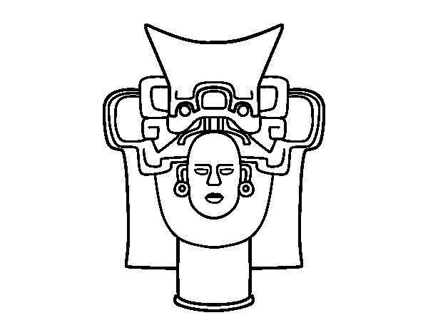 Desenho de Máscara velha mexicana para Colorir