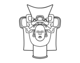 Desenho de Máscara velha mexicana para colorear