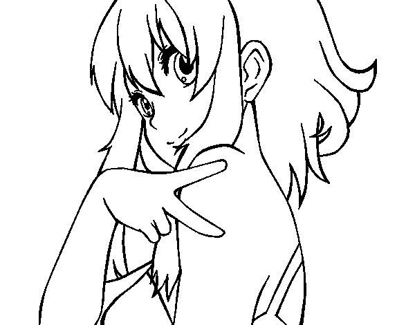 Desenho de Megpoid Gumi Vocaloid para Colorir
