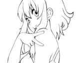 Desenho de Megpoid Gumi Vocaloid para colorear