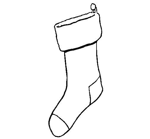 Desenho de Meia sem presentes para Colorir