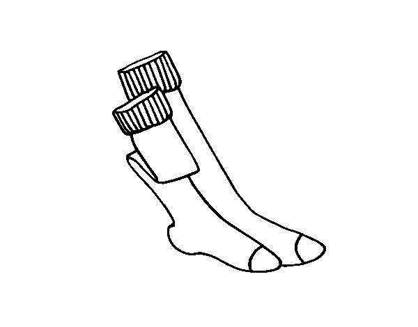 Desenho De Meias Longas Para Colorir