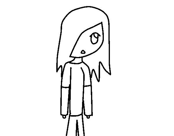 Desenho De Menina Adolescente Para Colorir