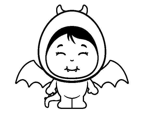 Desenho de Menina dragão para Colorir
