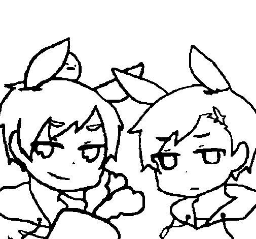 Desenho de Menina e menino para Colorir