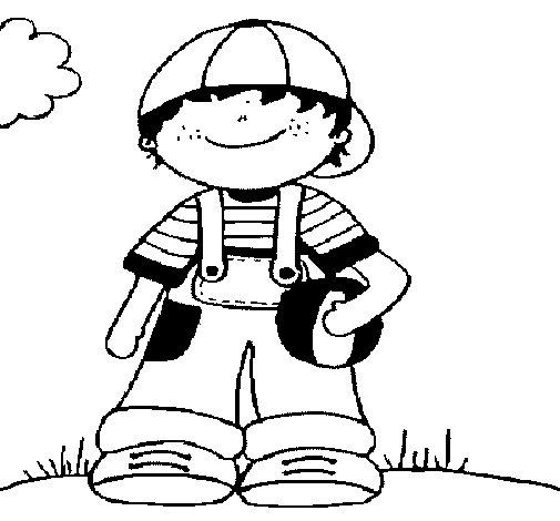 Desenho de Menino 3 para Colorir