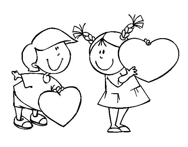 Desenho de Menino apaixonado para Colorir
