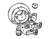 Desenho de Menino astronauta para colorear