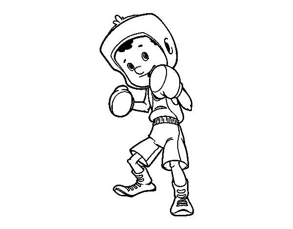 Desenho de Menino boxeador para Colorir