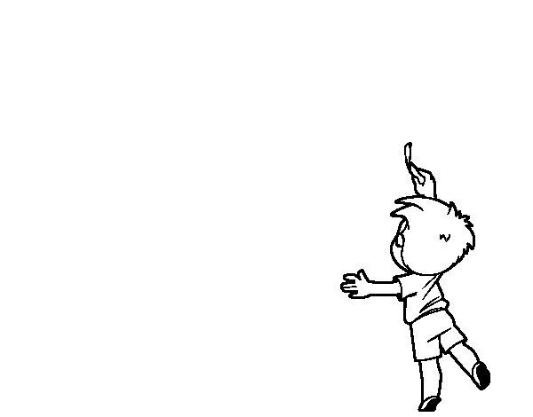 Desenho de Menino escrevendo para Colorir