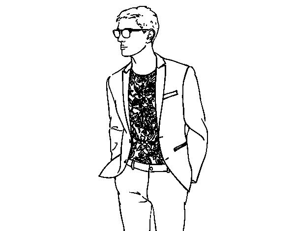 Desenho De Menino Moderno Para Colorir