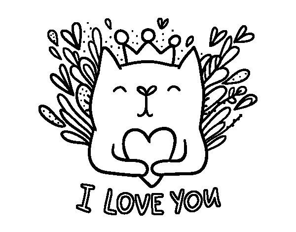 Desenho de Mensagem de amor para Colorir