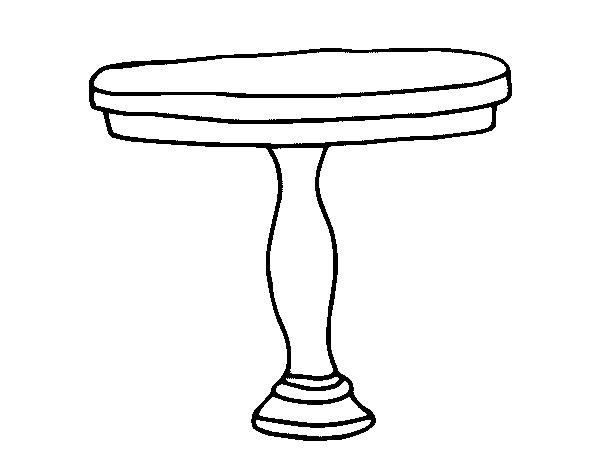 Desenho de mesa redonda para colorir for Sala de estar png