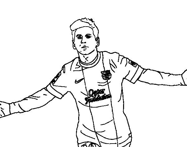Desenho de Messi para Colorir
