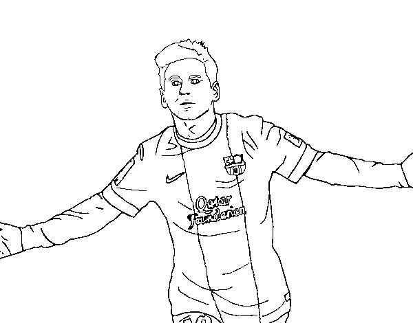 Dibujos De Futbolistas Famosos Para Colorear: Desenho De Messi Para Colorir
