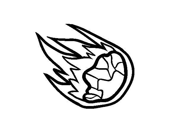 Desenho de Meteorito para Colorir