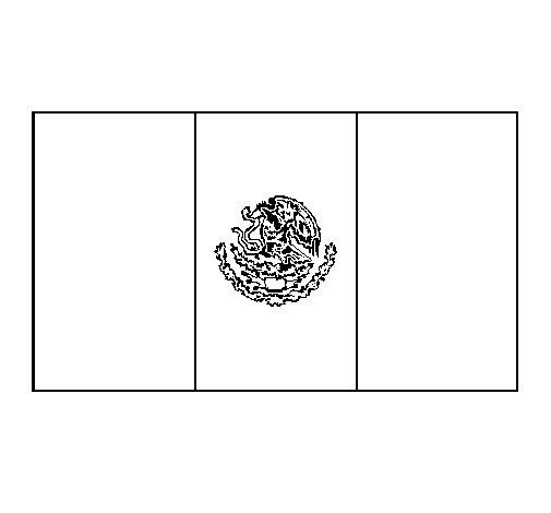 Desenho de México para Colorir
