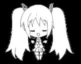Desenho de Miku anjo para colorear