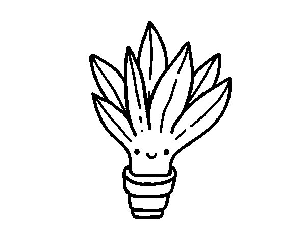 Desenho de Mini aloe vera para Colorir