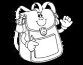 Dibujo de Mochila escolar