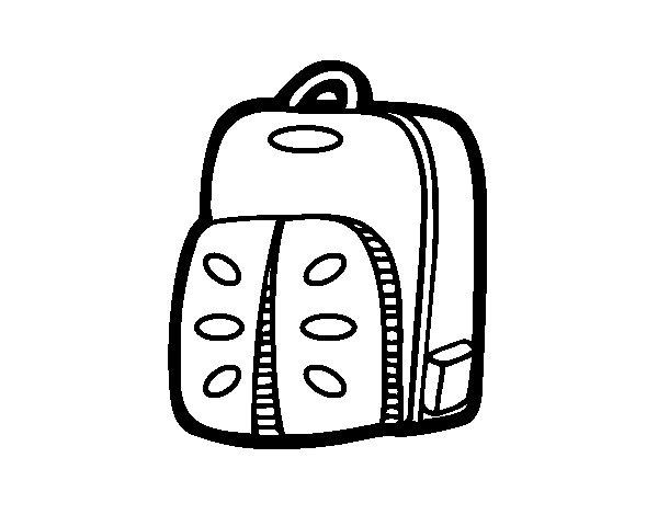 Desenho de Mochila esportiva para Colorir