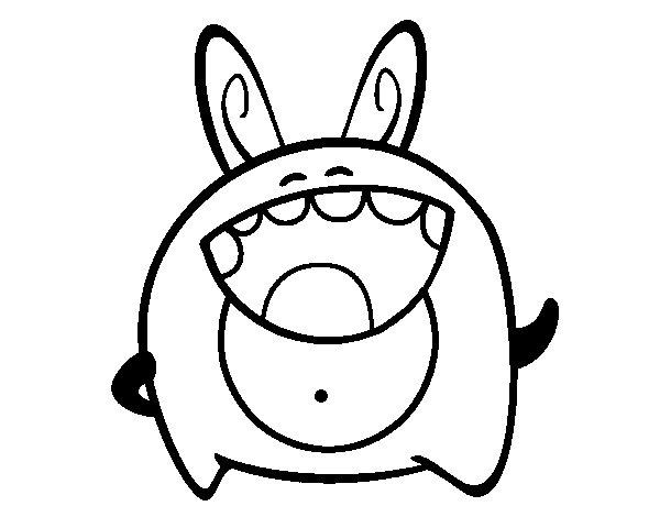 Desenho de Monstro alegre para Colorir