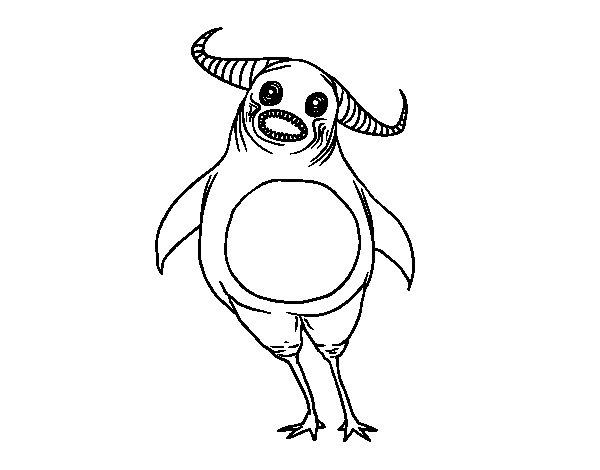 Desenho de Monstro assustador para Colorir